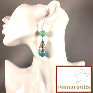 Sterling Silver Earrings Russian Amazonite